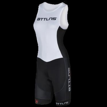 BTTLNS Goddess ITU trisuit sleeveless white Nemesis 1.0