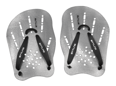 BTTLNS hand paddles silver Trireme 1.0