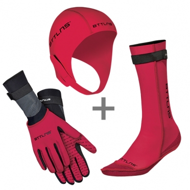 BTTLNS Neoprene accessories bundle red