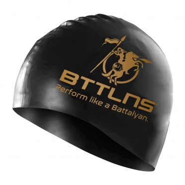 BTTLNS Silicone swimcap black-gold Absorber 2.0