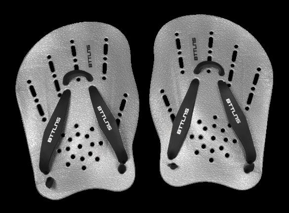 BTTLNS hand paddles silver Trireme 1.0  0119005-097