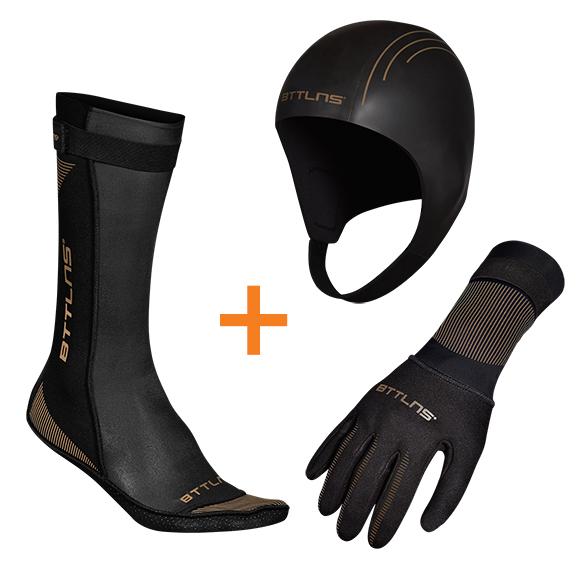 BTTLNS Neoprene accessories bundle gold  0121009+0121010+0121011-087